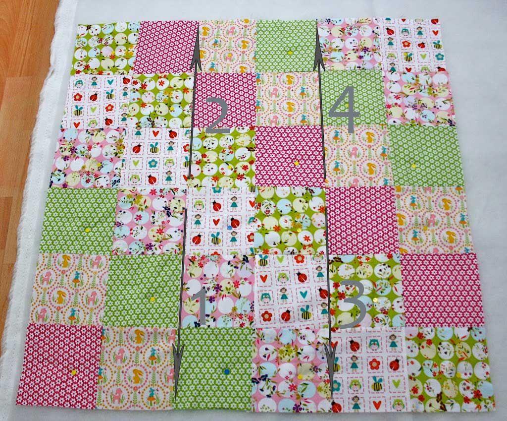 patchworkdecke quilten anleitung wie man eine decke n ht n hen quilts sewing und quilt. Black Bedroom Furniture Sets. Home Design Ideas