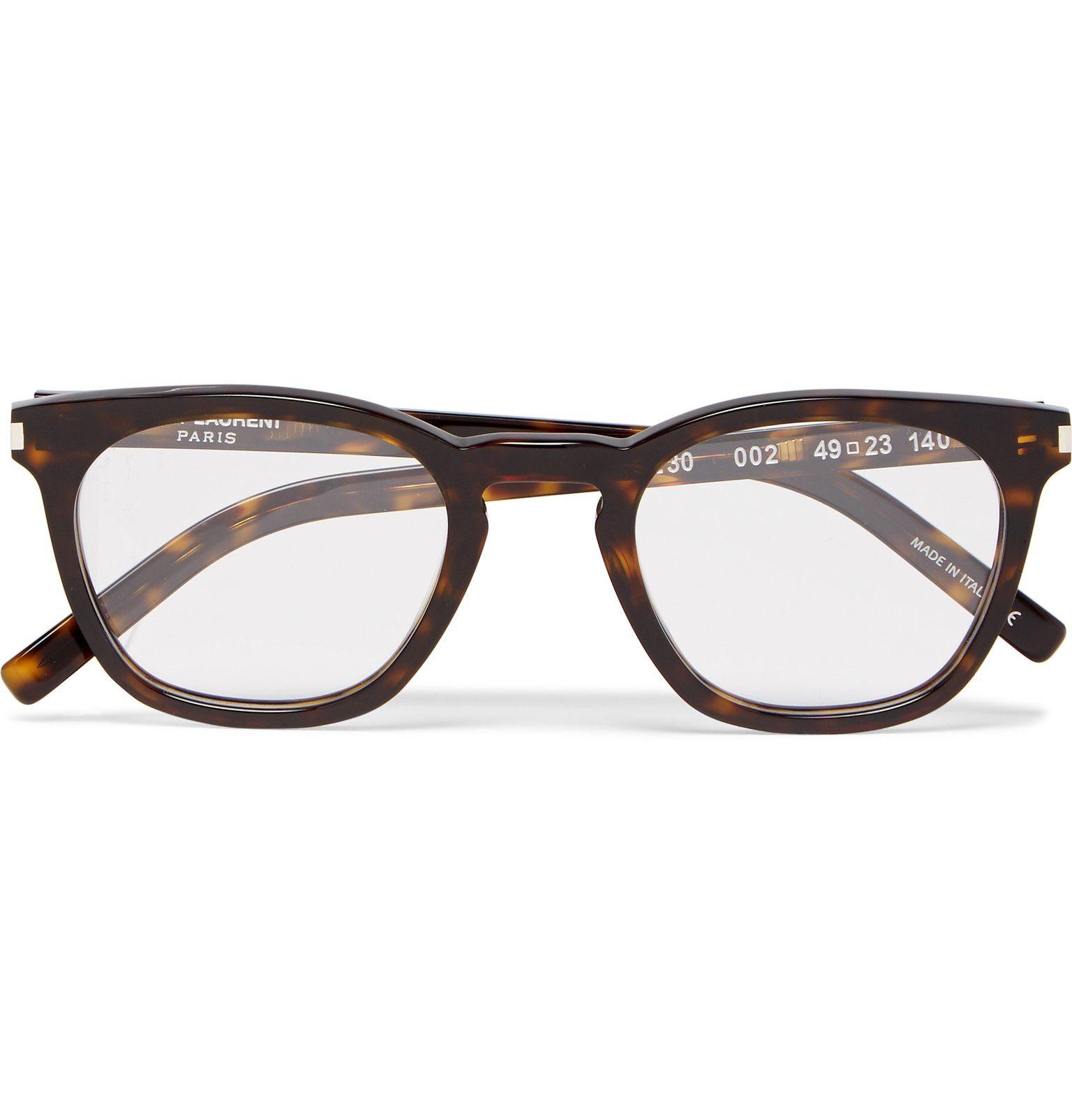 99afaebf14 Saint Laurent - Havana Square-Frame Tortoiseshell Acetate Optical Glasses