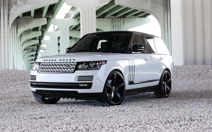 Download Wallpapers Range Rover Vogue White Luxury Suv