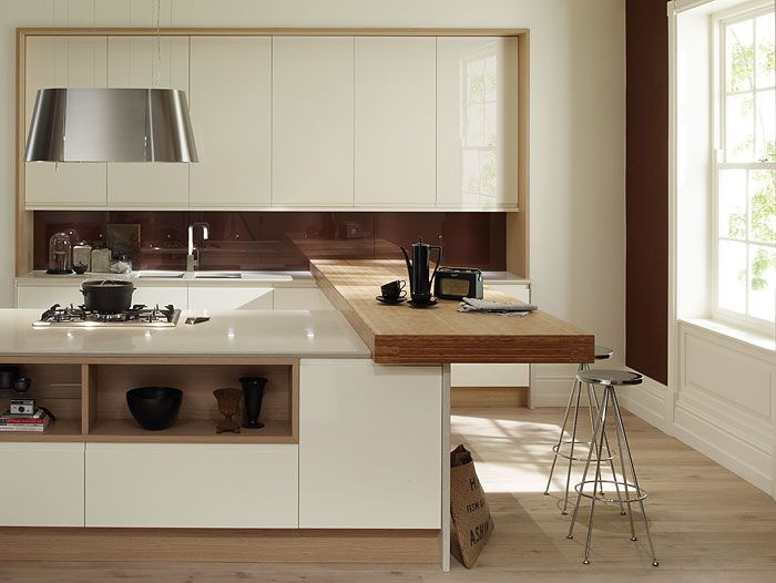 Handle less gloss white doors kitchen view 2. PWS kitchen Remo & Wood frame. Handle less gloss white doors kitchen view 2. PWS ...