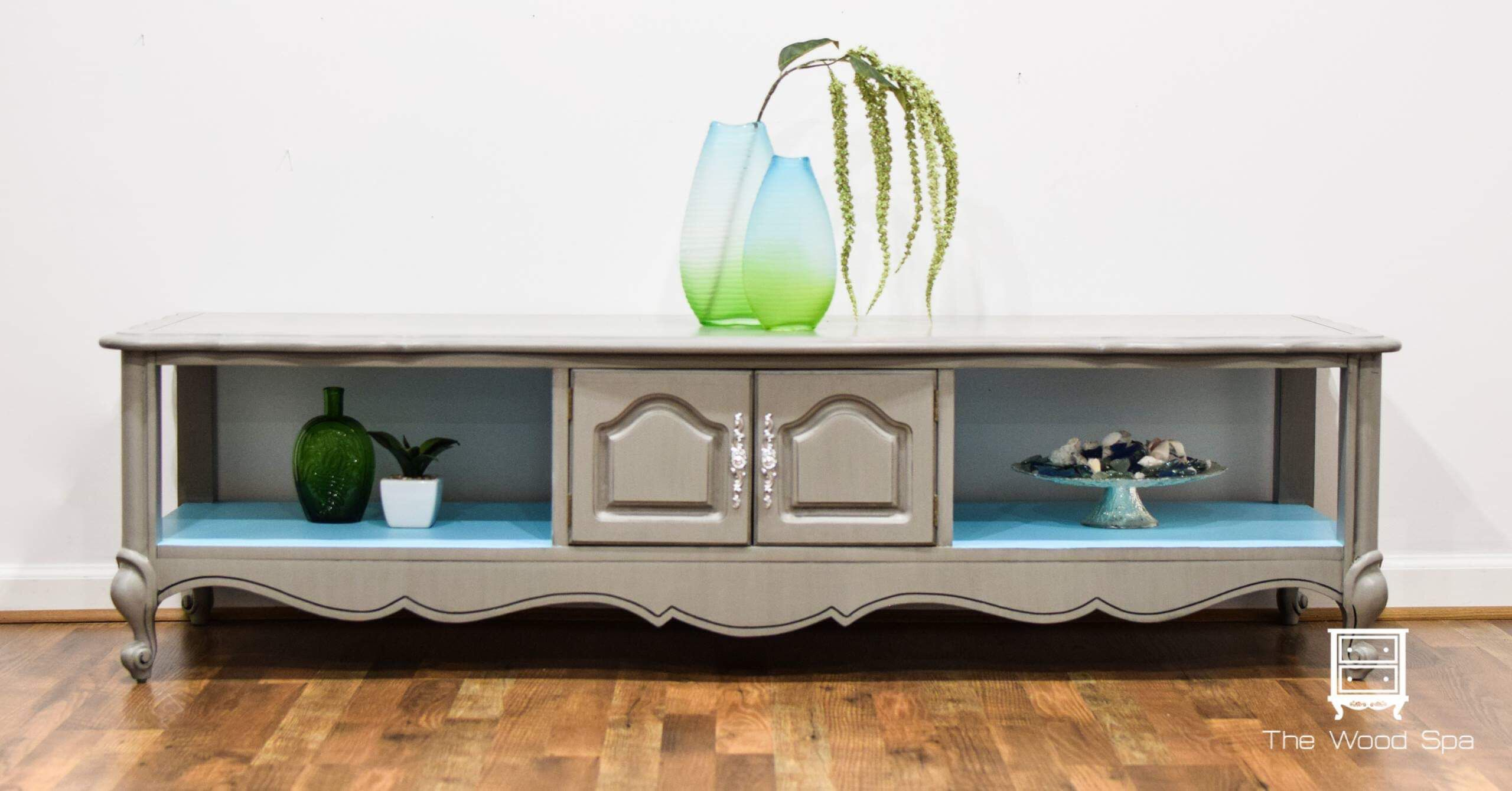 French Provincial Coffee Table painted with Valspar Tabby