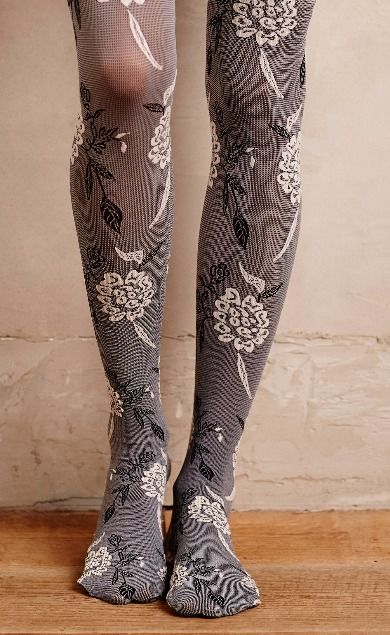 fe44370f323ee Textured Floral Tights #anthroregistry | My style - haves, want and ...