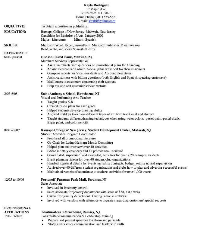 Merchant Service Representative Resume Sample  Http