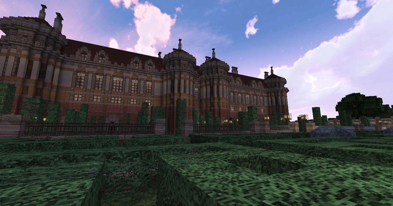 how to make a huge palace in minecraft