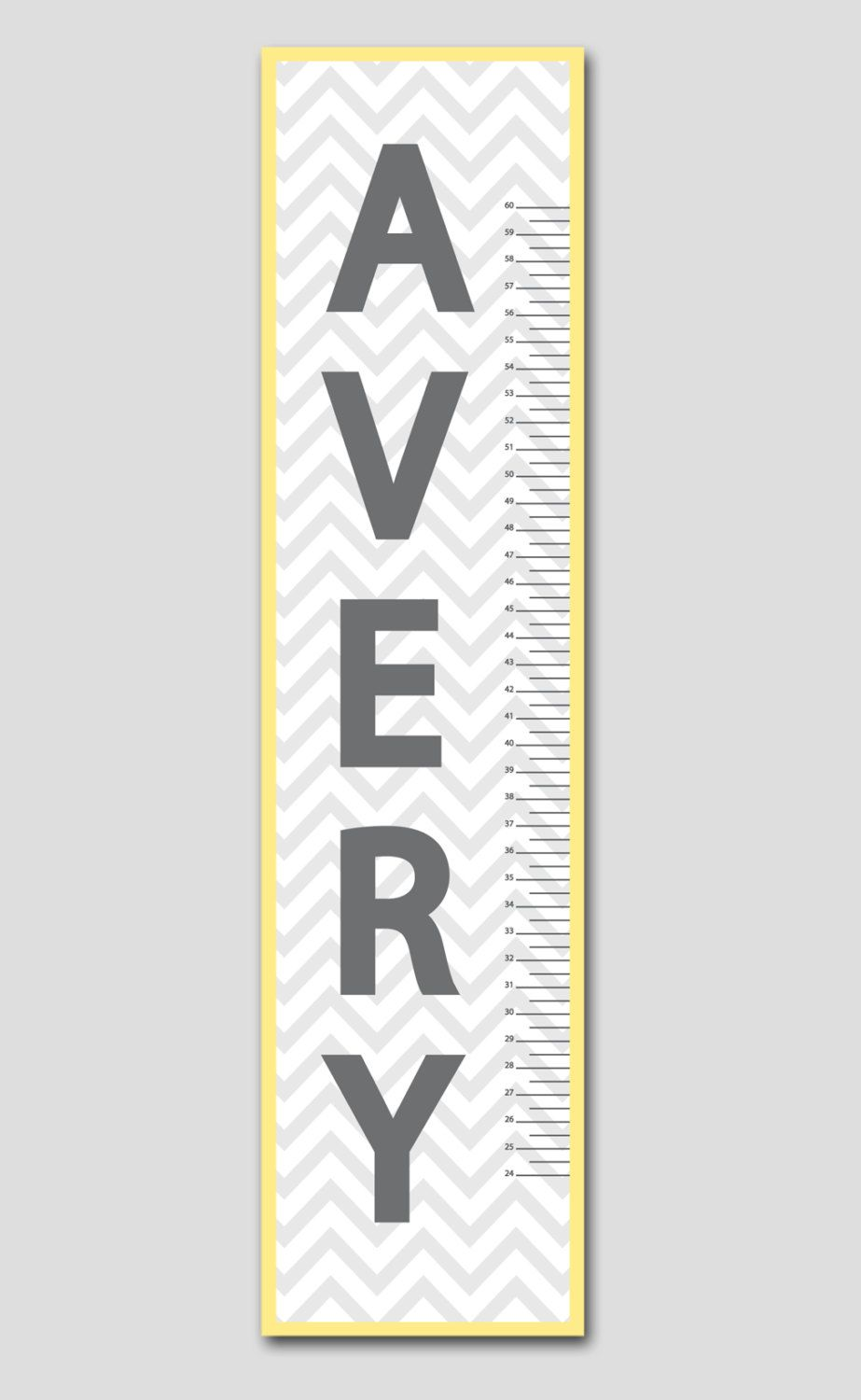 Personalized grey chevron growth chart vinyl print growth charts personalized grey chevron growth chart vinyl print growth charts for babies girl or boy nursery and children decor nvjuhfo Images