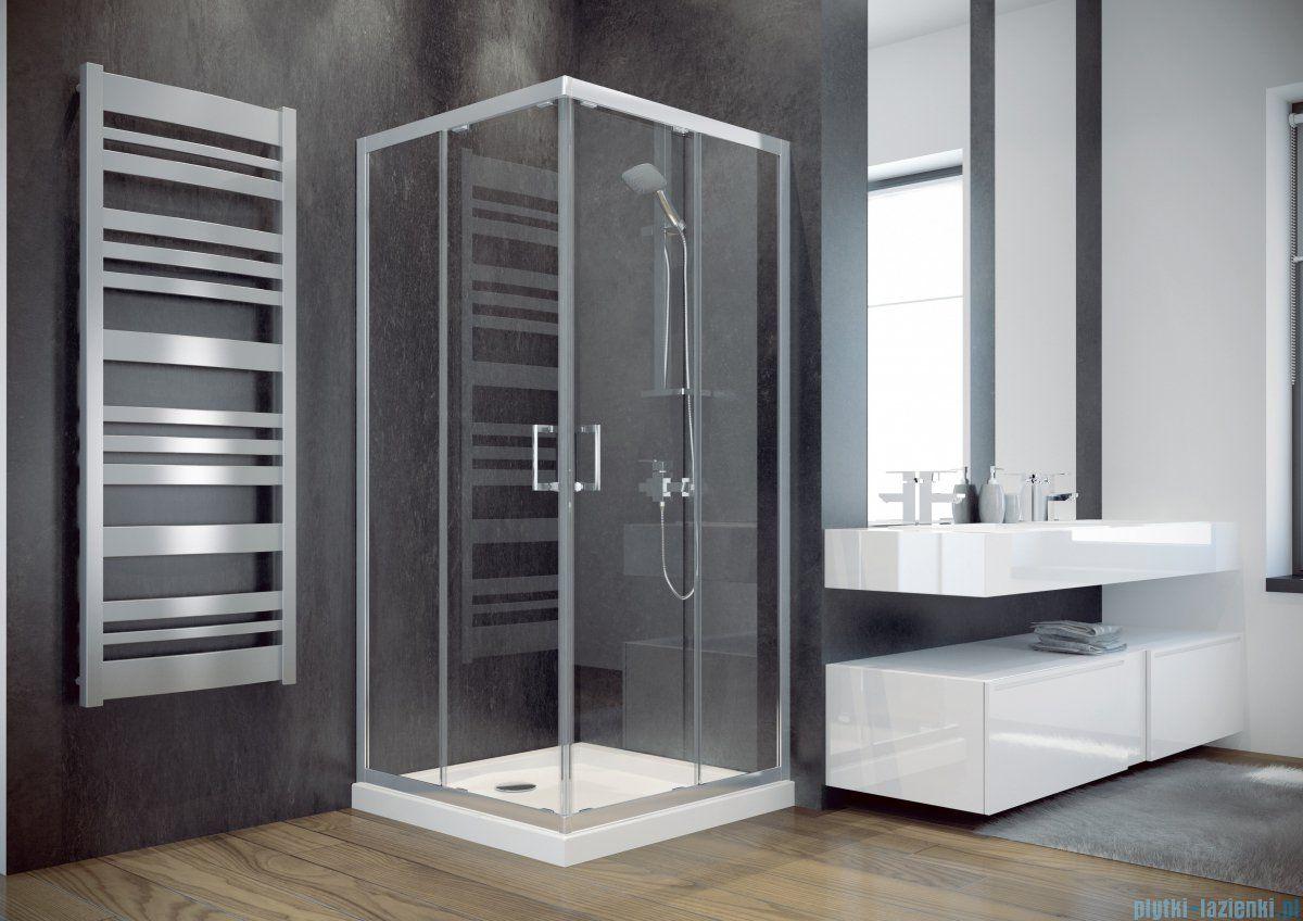 Besco Modern square shower cabin 90x90x185cm transparent MK-90 …