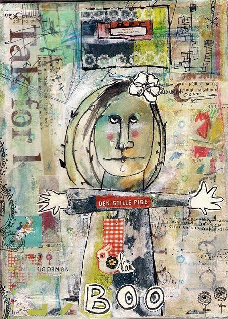 Тётя Трот: mixed media | Collage et Art du papier | Pinterest ...