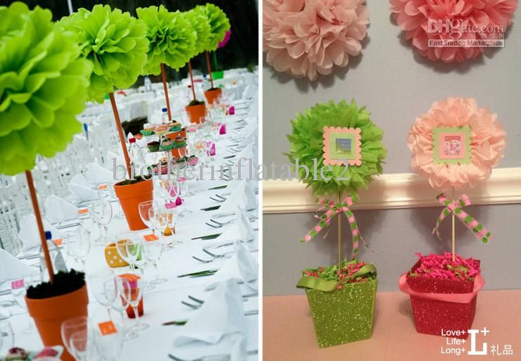Tissue Paper Ball Decorations Wwwpom Pom Tissue Flowers On A Stick  Colorful Tissue Paper