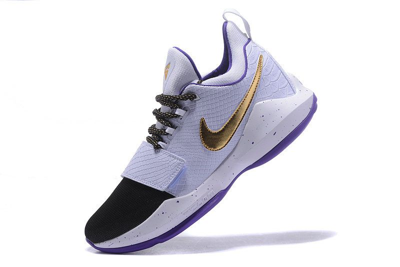 2017-2018 Newest And Cheapest Nike PG 1 Paul George Shoes Elite White Gold  Club