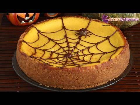 Cheesecake alla zucca con ragnatela (Pumpkin cheesecake with web)