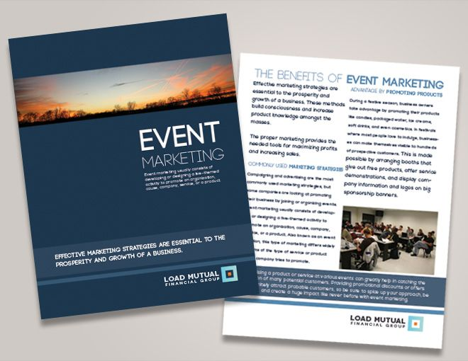 Corporate Event Brochure Seminar Brochure Design Financial - advertising brochure template