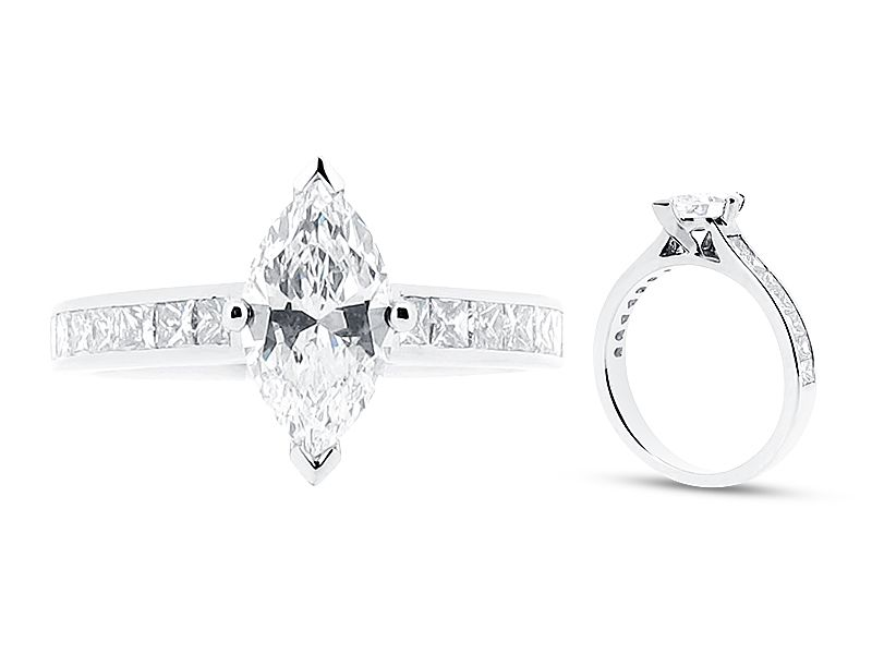 Marquise Solitaire Ring with Channel Set Shoulders - ER 1022 - http://www.voltairediamonds.ie/product/marquise-solitaire-with-channel-set-shoulders-er-1022/