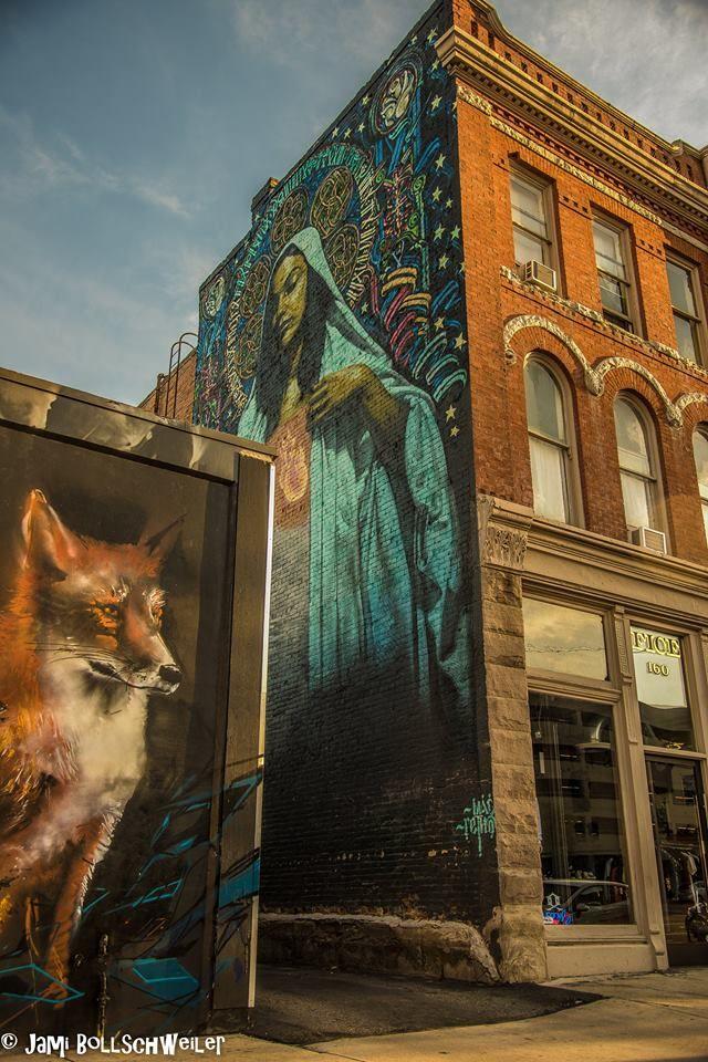 El Mac And Retna Graffiti Street Art In Salt Lake City On Old Guthrie Bicycle Building Street Art Urban Landscape Photography Challenge