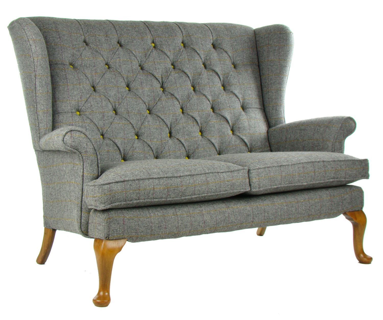 Made To Order * Vintage Parker Knoll Sofa In Art Of The Loom Harris Tweed  Wool