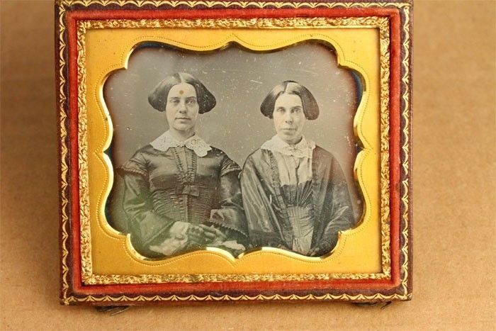 Antique late1840s 6th Plate Daguerreotype Photo 2 Women Lovely Period Style Hair | eBay