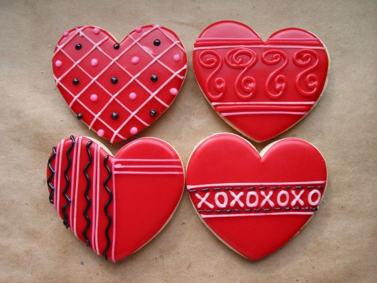 southern blue celebrations valentine cookie ideas - Decorated Valentine Cookies