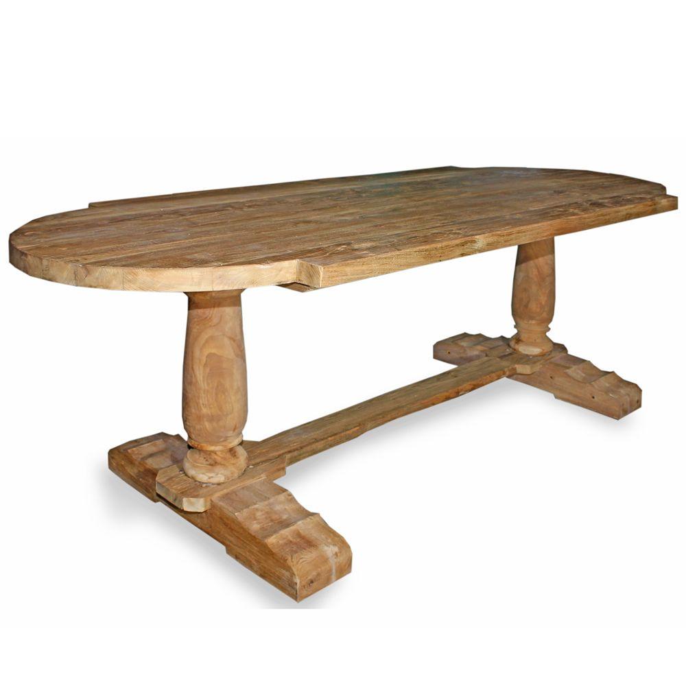 rustic reclaimed teak oval dining table unfinished natural coastal pinterest dining. Black Bedroom Furniture Sets. Home Design Ideas