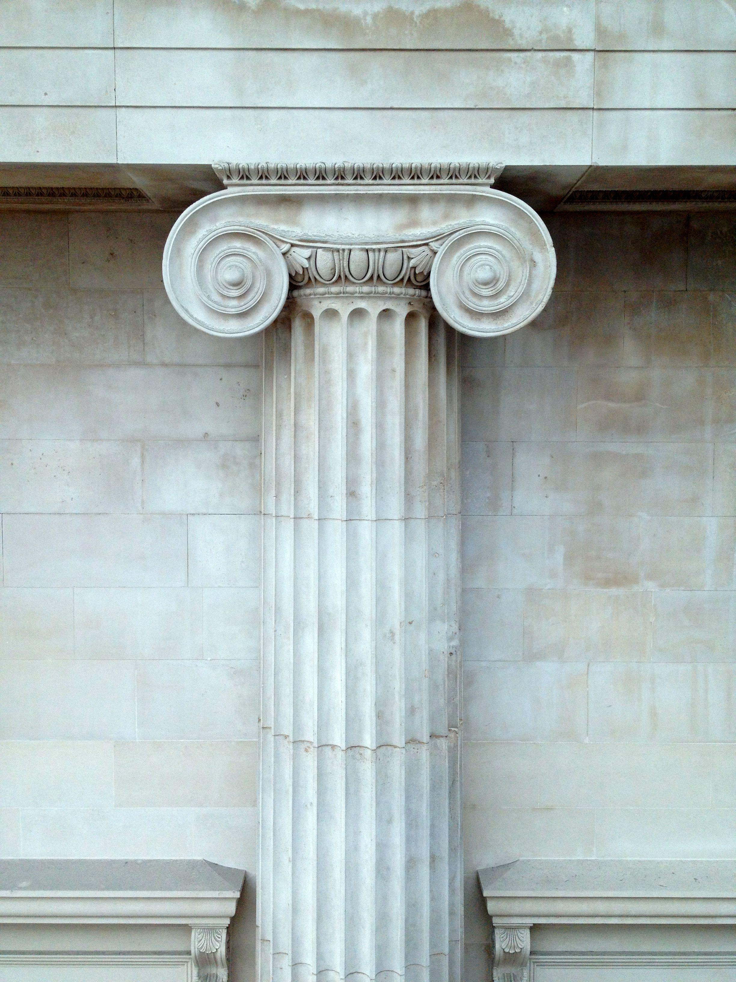Ionic Column Often Found In Greek