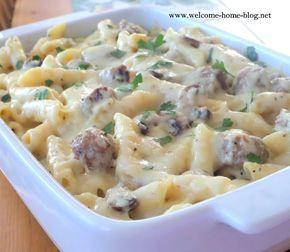 welcome home blog sausage alfredo bake mains pinterest
