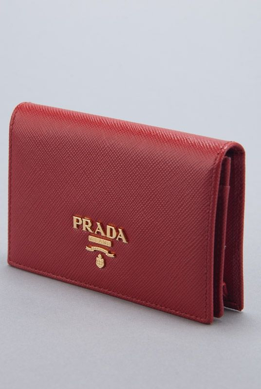Rodeo Drive Resale Www Shoprdr Com 100 Authentic Guaranteed New Prada Red Saffiano Card Holder Wallet Monederos