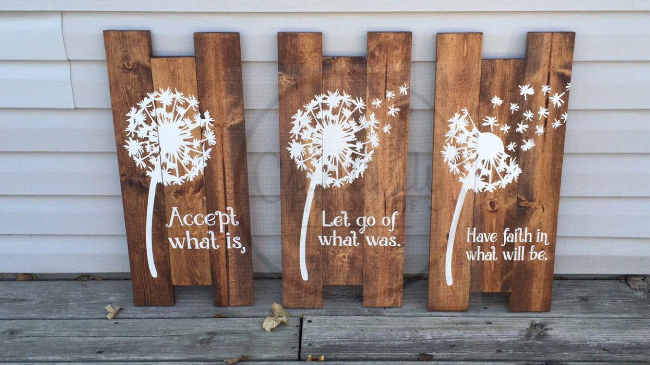 Beautiful dandelion wall art dandelion decor dandelion wood sign