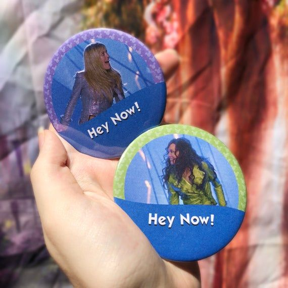 Hey Now! Hey Now! Lizzie McGuire Movie Disney Park Inspired Set of 2 Buttons Set