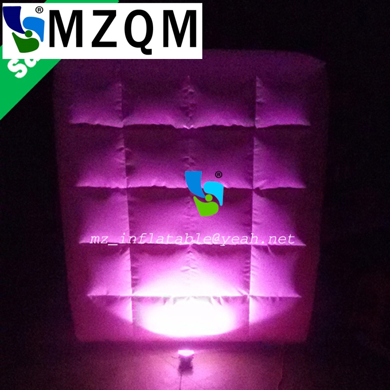 350.00$  Watch now - MZQM  3*3m Custom wedding party event use led photobooth backdrop inflatable wall with led for sale  #bestbuy