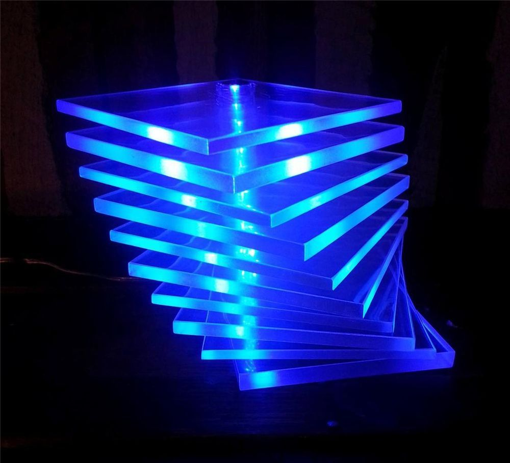 Mood Lighting Ideas From Visualchillout: Ikea Adjustable Poseable Lucite Blue LED Table Desk Accent