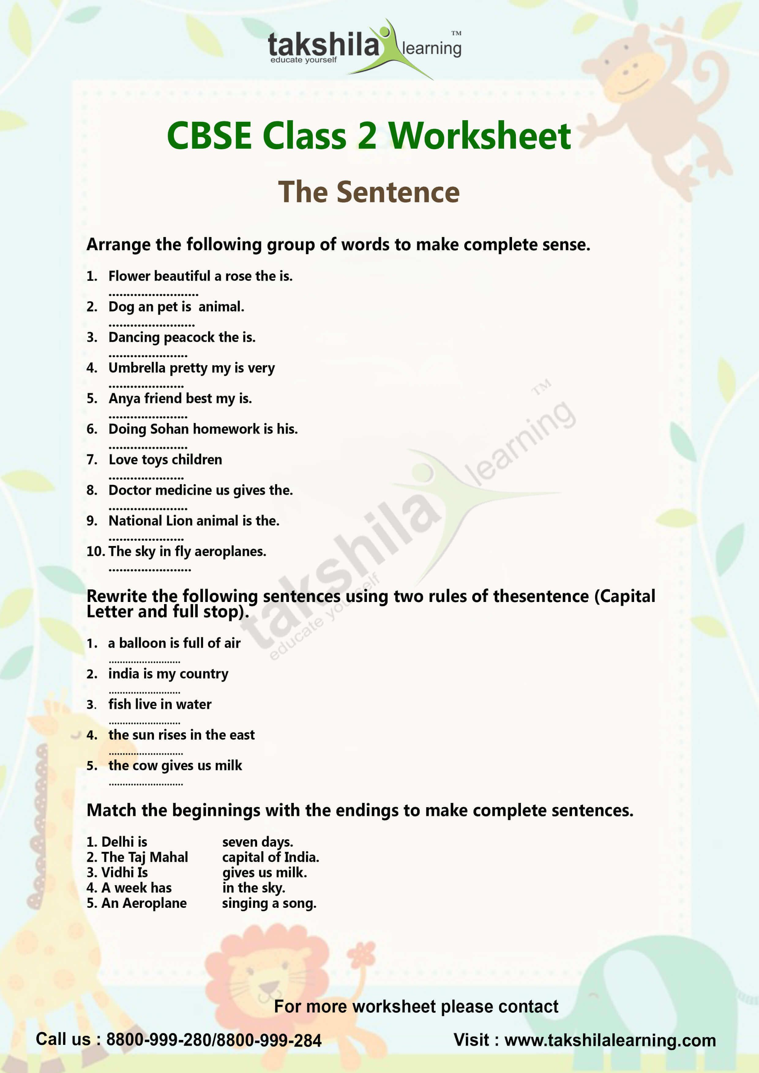 Ncert Amp Cbse Class 2 English Worksheet Lessons The