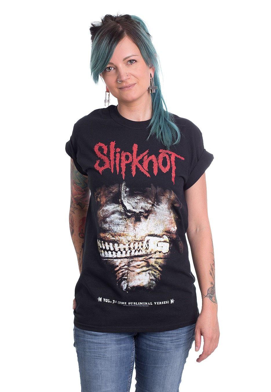 Commandez Slipknot - Vol. 3 Album - T-Shirt pour 16,99€ (16/08/2017) sur la boutique en ligne de Française Impericon de super qualité.