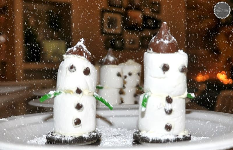 Little snow buddies.  Thecopperanchor: A Christmas recap in pictures...