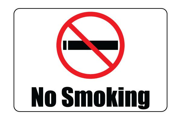 Candid image for free printable no smoking signs