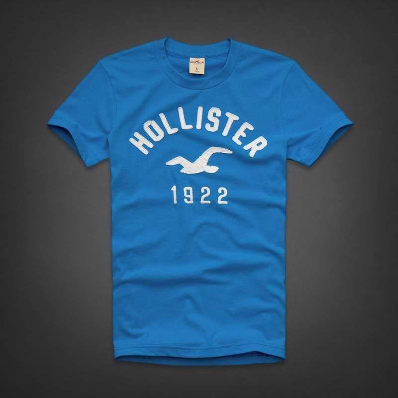blue hollister shirt