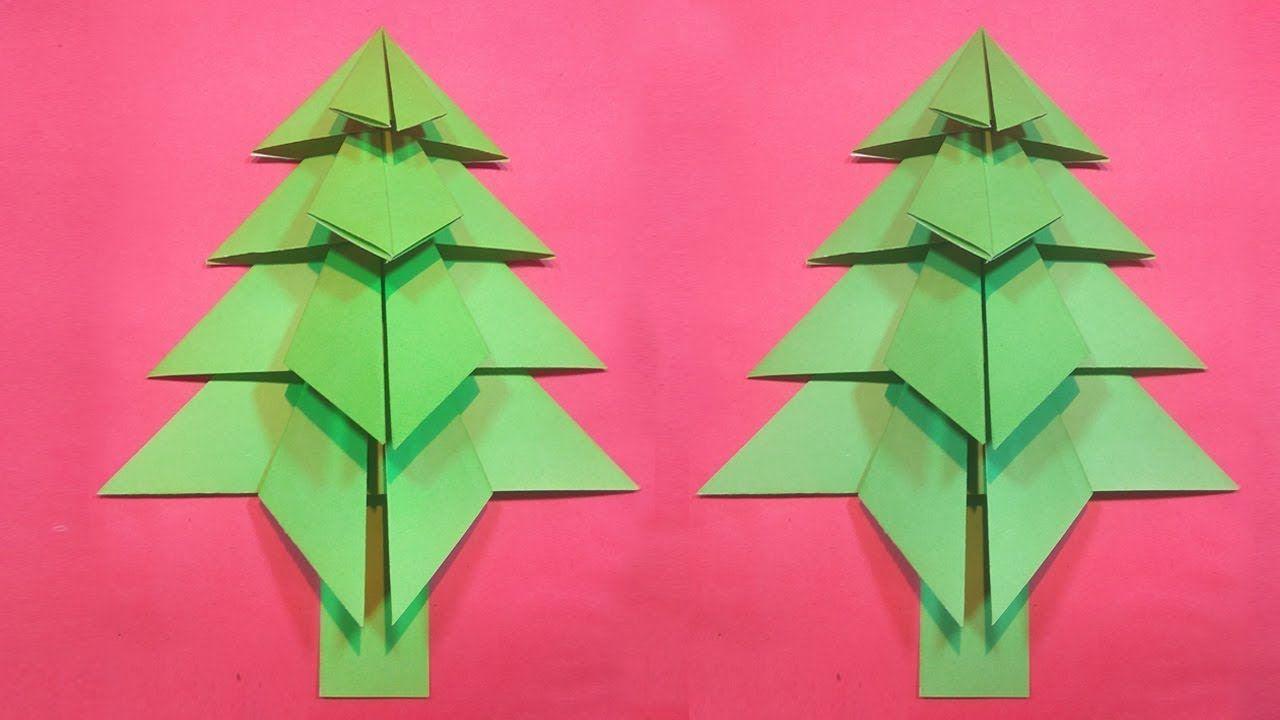 How To Make A 3d Paper Xmas Tree Diy Tutorial 3d Paper Christmas Tree Origami Christmas Tree Paper Art Tutorial Origami Frog