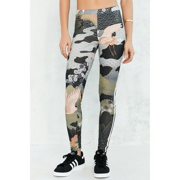 9c84d4249f3 adidas Originals By Rita Ora Kimono Print Legging (275 ARS) ❤ liked on Polyvore  featuring pants, leggings, stripe leggings, patterned pants, ...