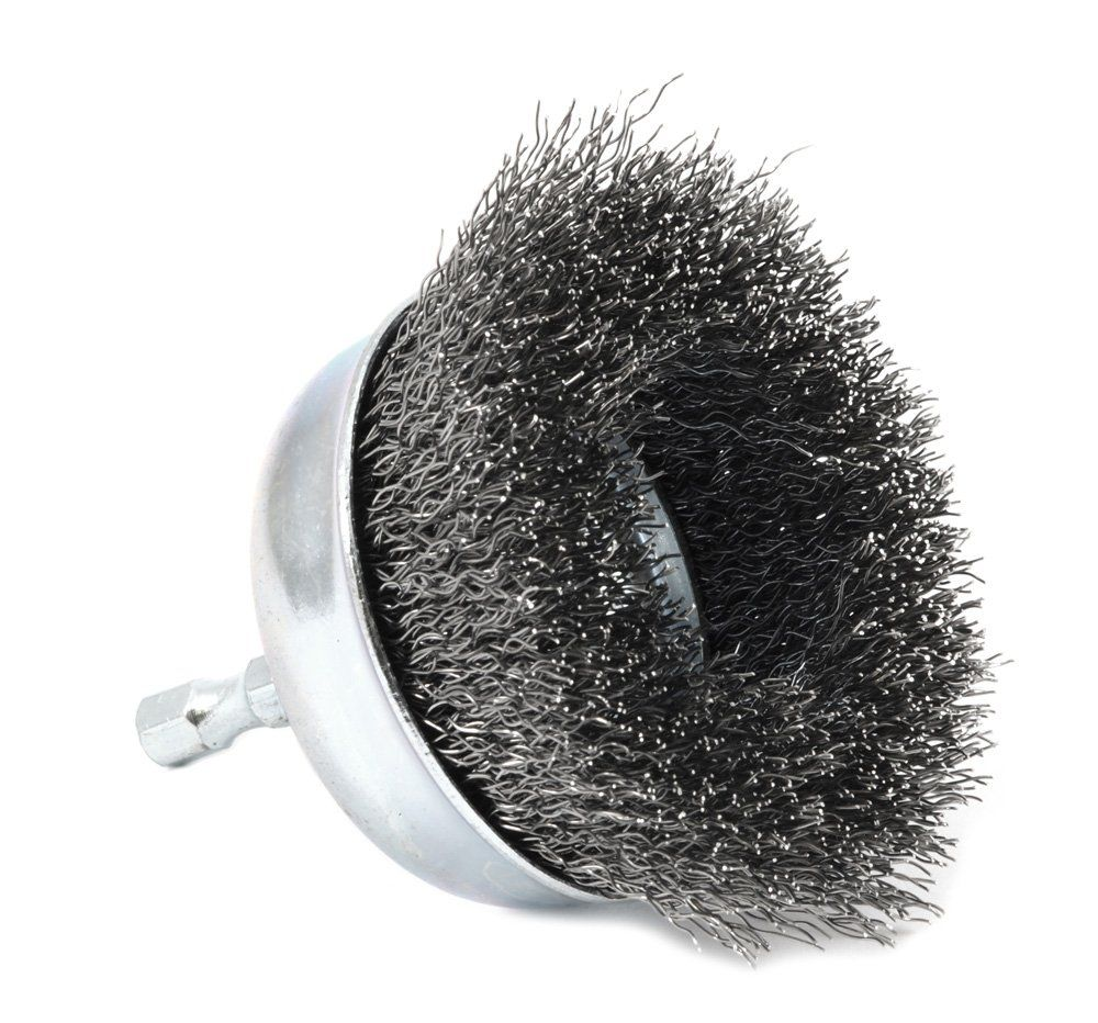 Coarse Crimped with 1//4-Inch Hex Shank Forney 72731 Wire Cup Brush 3-Inch-by-.012-Inch
