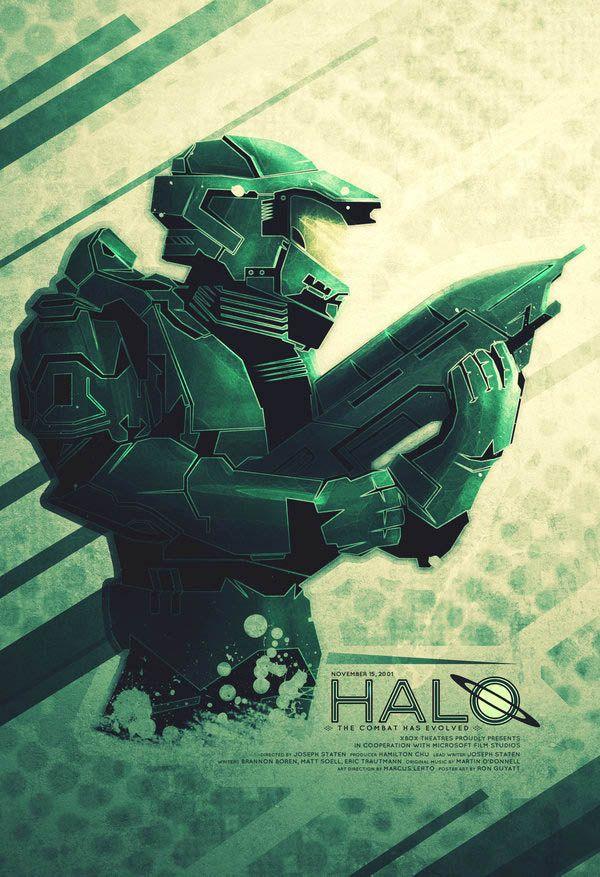 Video Game Inspired Movie Posters Jefe Maestro De Halo Videojuegos Afiches De Videojuegos