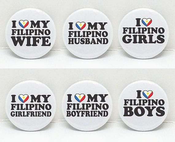 Pinoy Love2 1 pinback button  Six Options or  Set by OhBoyLoveIt