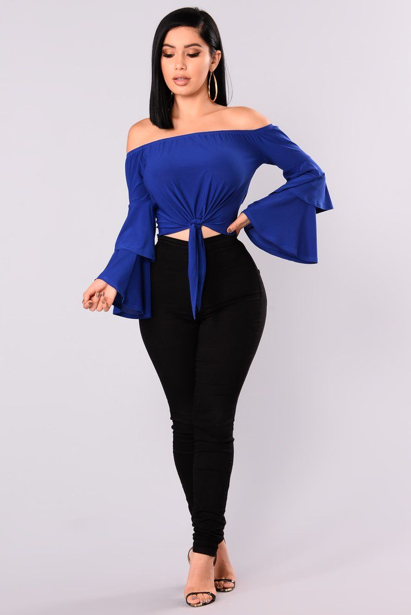 c214b51ddfe71f Kamila Off Shoulder Top - Royal Blue | My Treasure in 2019 | Blue ...