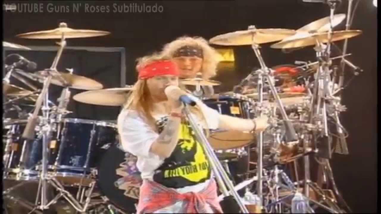 Guns N Roses Knockin On Heaven S Door Subtitulada Traducida Español Guns N Roses Sweet Child O Mine Music Book