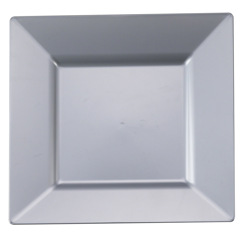 9.5  Silver Square Plastic Dinner Plates  sc 1 st  Pinterest : square plastic dinner plates - pezcame.com