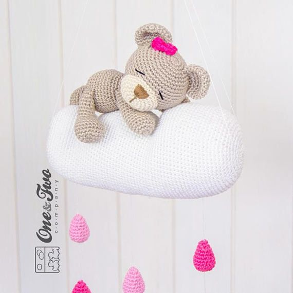 Sweet Dreams Teddy Bear Mobile PDF Crochet Pattern Instant | Etsy