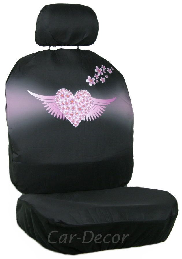 Angel Wing Heart Car Seat Cover Teen Girl Accessory