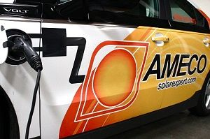 """""""The Perfect Match: Solar and Electric Vehicles"""" by AMECO Solar"""
