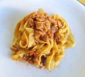 Lasagnette con ragout di coniglio