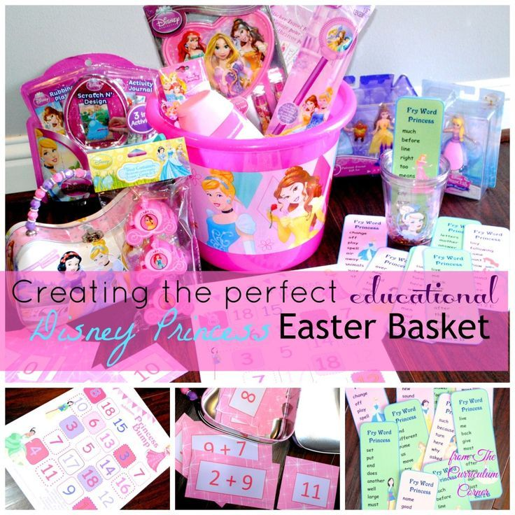 Creating the perfect educational Disney Princess Easter basket | Princess Bump | Princess Fry Words | Sparkle Math Facts | The Curriculum Corner #shop #ad #cbias #DisneyEaster