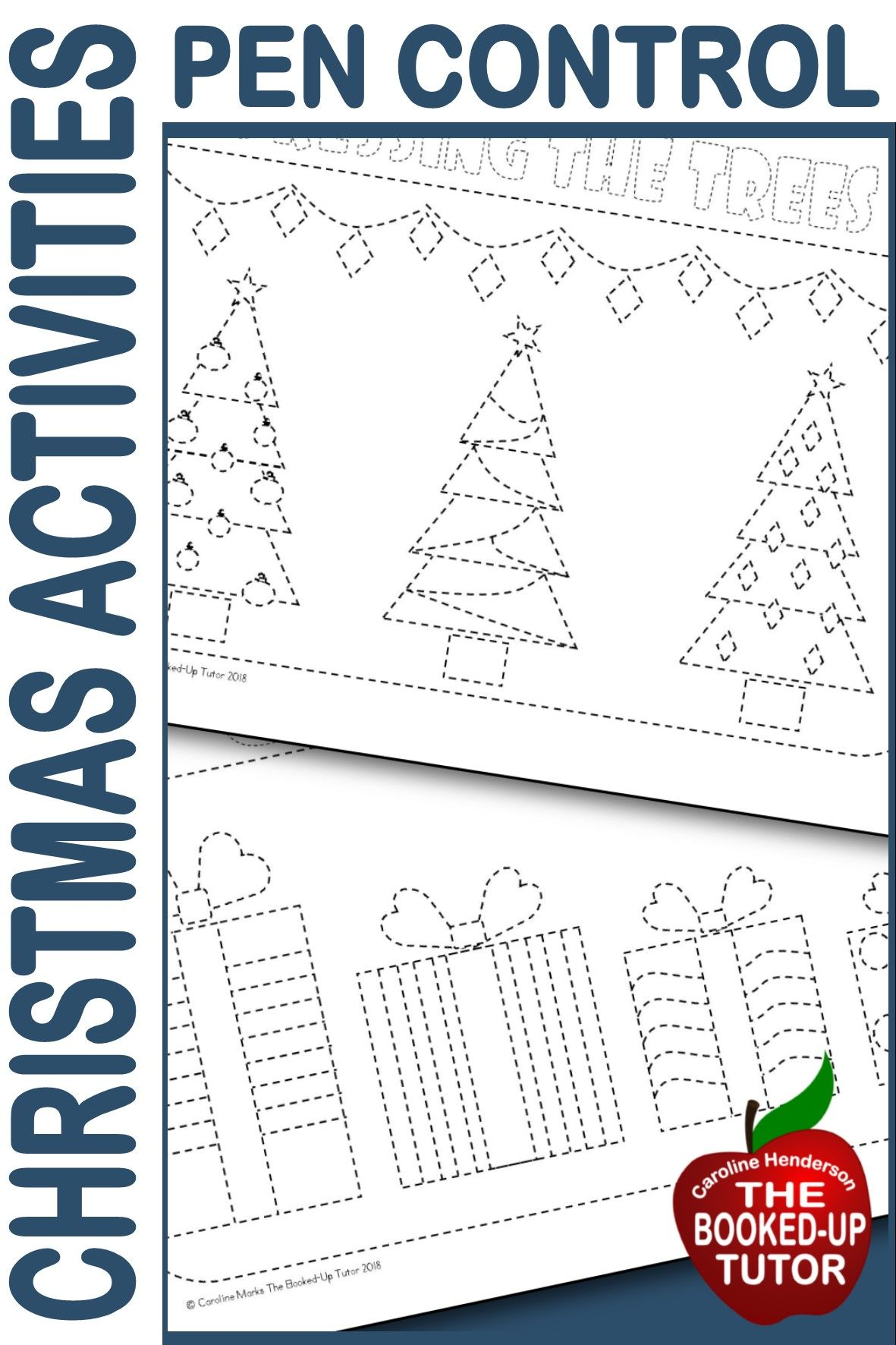 Pencil Control Fine Motor Activities Christmas