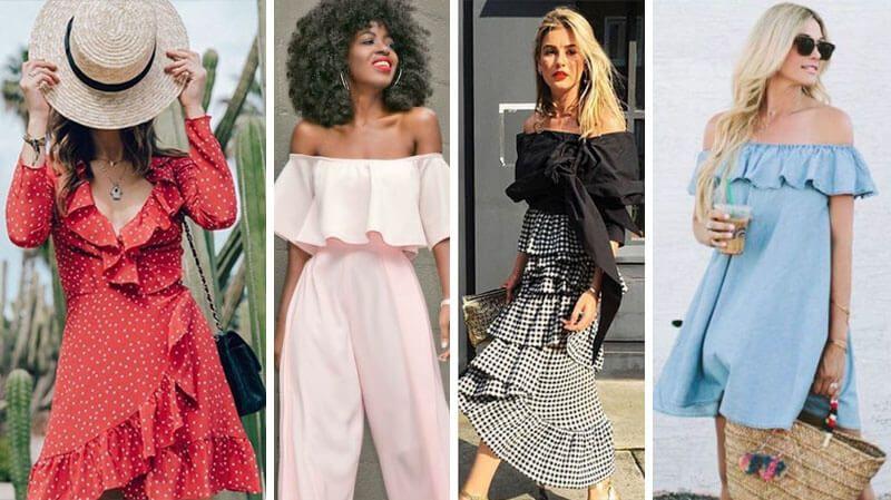 88bba9ba5 Tendências de moda primavera / verão 2019: Babados e Laços | Moda em ...