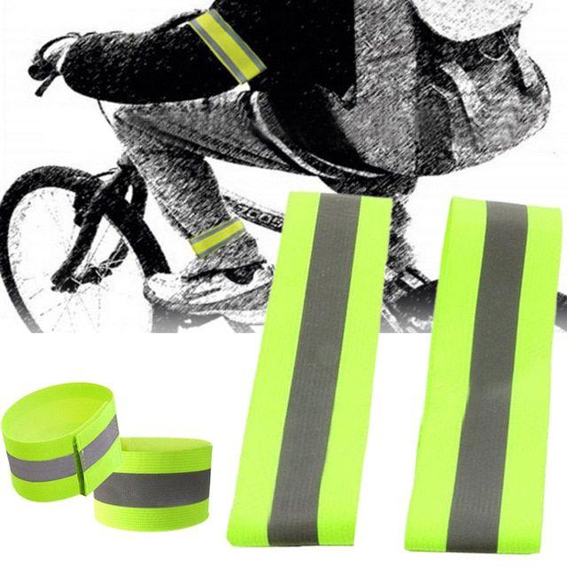 Roadway Safety New Fashion Reflective Cycling Arm Band Running Outdoors Safety Belt Wrist Leg Useful Straps