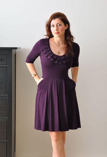 b5932f719a4e love the collar and pockets   Gowns   Pinterest   Ausschnitt, Gift ...